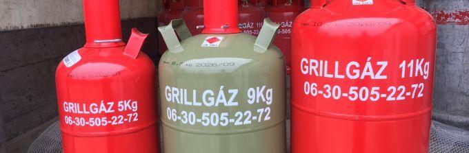 5 Kg os gázpalack